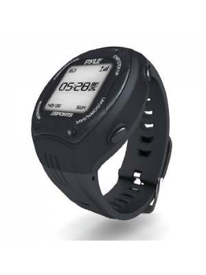 Pyle Extreme GPS Sports Watch Workout Trainer - ANT+ Heart Rate Monitor Compatible - For Tracking Running, Biking, Hiking Outdoors - Export Data to Map my Run and Strava - Displays Pace, Speed and Distance