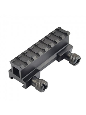 "Fyland 1.2"" Picatinny Riser Mount w/See Through Hole for Scopes and Optics, 3.3"" long, 8 Slot/1.56"" long, 3 Slot"