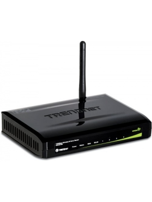 TRENDnet 150Mbps Wireless N Home GREENnet Router TEW-651BR (Piano Black)