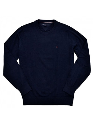 Tommy Hilfiger Men's Crew-Neck Cotton Sweater