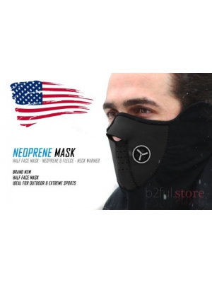 B2Ful Store - NEW Black - Half Face Mask - Motorcycle - Ski - Neck Warmer
