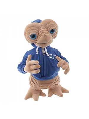 "Universal E.T. Extra Terrestrial with Blue Embossed Hoodie Sweatshirt 15"" Plush Doll"