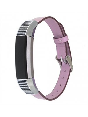 KADES Fitbit Alta Genuine Leather Strap, Calfskin Colorful Leather Band for Fit Bit Alta Pink