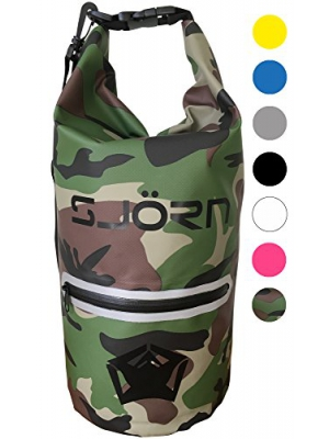 SJORN Waterproof Dry Bag by Outside Reflective Zip Pocket, Shoulder Strap & Visibility Window. Best for Keeping Gear Dry while Travelling Rafting Boating Kayaking Canoeing Camping & Hiking