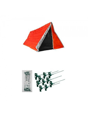 SE ET3683 Emergency Outdoor Tube Tent with Steel Tent Pegs with Tent Stakes