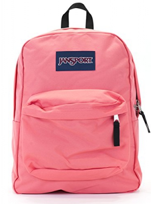Jansport Superbreak Backpack (coral sparkle)
