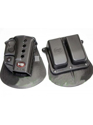 Fobus Evolution Paddle Holster for Glock 17 19 22 23 27 31 32 34 35 + Fobus Double Magazine Paddle Pouch for Glock Glock 17 19 22 23 27 31 32 34 35 - GL2ND 6900 + Best Security Gear Magnet