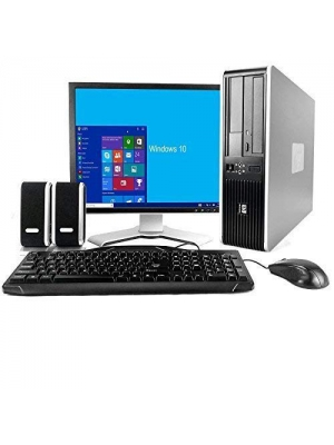 HP Desktop Core 2 Duo 2.6GHz - New 4GB Memory - 500GB HDD - Windows 10 Home Edition - 19in Generic Monitor, NEW Keyboard, Mouse, Speakers, WiFi Sold (Renewed)