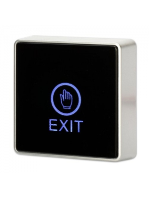Generic DC 12V NC NO Square Touch Sensor Door Exit Release Button Switch w LED Light