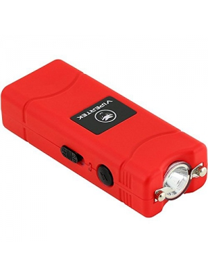 VIPERTEK VTS-881 - 430,000,000 Micro Stun Gun - Rechargeable with LED Flashlight, Red