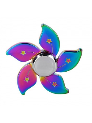 Fidget Spinners Relieves Stress & Anxiety, Rainbow Floral Star Time Killer EDC Metal Fidget Toy Hand Spinners Finger Gyro, Great Gift for ADD, ADHD, Anxiety and Autism Adult Children by Seprovider