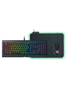 Razer Holiday Bundle 2018 Cynosa Chroma Gaming Keyboard, Abyssus Gaming Mouse, Goliathus Chroma Mousepad