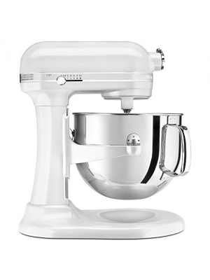 KitchenAid Professional 7-Quart Super Big Biggest Capacity Large KSM7581WH 7-Quart Bowl Largest Lift Stand Mixer White