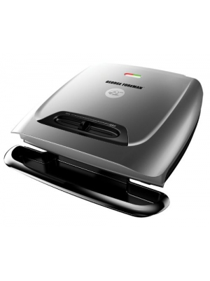 George Foreman 8-Serving Classic Plate Grill and Panini Press with Adjustable Temperature, Platinum, GR2121P