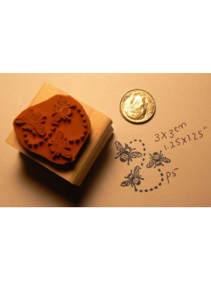 3 Bees Rubber Stamp Wm P5