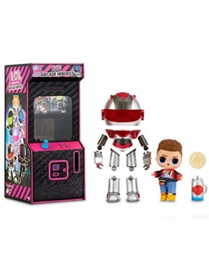 L.O.L. Surprise! Boys Arcade Heroes – Action Figure Doll with 15 Surprises