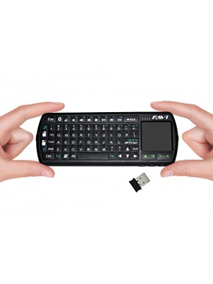 FAVI Mini Bluetooth Keyboard with Laser Pointer and Backlit Keys (FE02BT-US40)