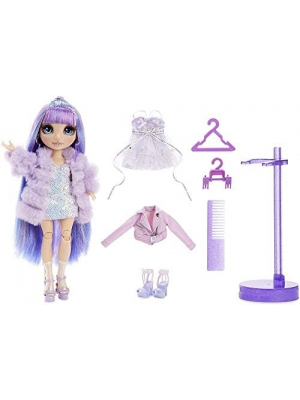 Rainbow Surprise Rainbow High Violet Willow – Purple Fashion Doll with 2 Outfits