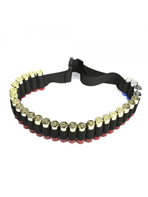 Shotgun Shell Bandolier Belt 12/20 Gauge Ammo Holder for Tactical Military Hunting(29 Rounds, 51.2'' x 1.98'')