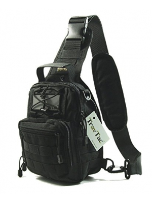 TravTac Stage II Small Sling Bag, Premium EDC Tactical Sling Pack 900D
