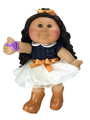 Cabbage Patch Kids 14 Inch Kid, Tan Brunette Girl Doll (Cowgirl Fashion)