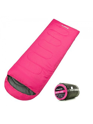 KingCamp Envelope Sleeping Bag 3 Season Lightweight Comfort with Compression Sack Camping Backpack Temp Rating 26F/-3C