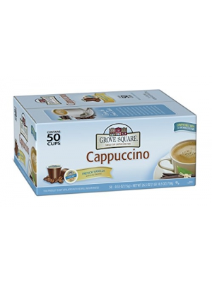 Grove Square Cappuccino, French Vanilla, 50 Single Serve Cups…