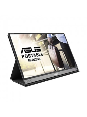 "Asus Zenscreen Go MB16AP 15.6"" Full HD Portable Monitor IPS Built-in Battery Eye Care USB Type-C W/Foldable Smart Case"