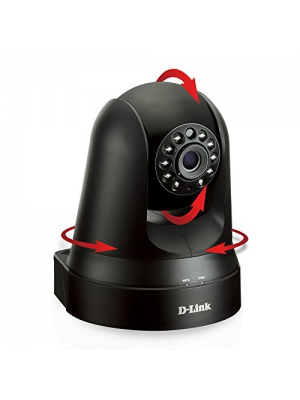 D-Link DCS-5010L Pan & Tilt Wi-Fi Camera (Black)