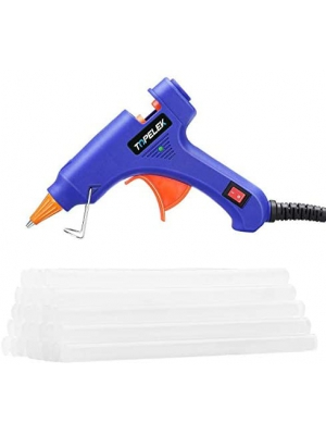 Hot Glue Gun, TOPELEK Mini Heating Hot Melt Glue Gun with 30pcs Melt Glue Sticks, Melting Glue Gun Set for School DIY Arts and Crafts Projects, Home Quick Repairs(20 Watts, Blue)