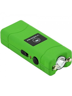 VIPERTEK VTS-881 - 430,000,000 Micro Stun Gun - Rechargeable with LED Flashlight, Green