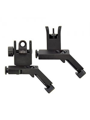 OTW Flip Up Sight 45 Degree Offset Rapid Transition Front and Backup Rear Sight Iron Sight for Gun Rifle AR 15