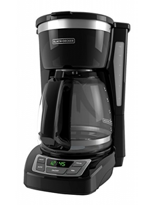 BLACK+DECKER CM1160B 12 Cup Programmable Coffee Maker, Digital Control Programmable Coffee Maker, Black/Stainless Steel
