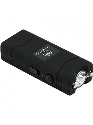 VIPERTEK VTS-881 - 430,000,000 Micro Stun Gun - Rechargeable with LED Flashlight, Black