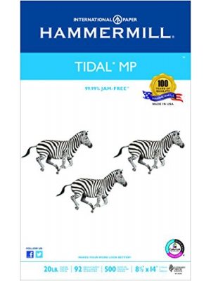 Hammermill Paper, Tidal MP, 20lb, 8.5 x 14, Legal, 92 Bright, 500 Sheet/1 Ream (162016), Made In The USA