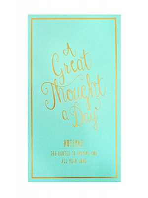 Eccolo World Traveler Thought A Day Notepad, Sea foam (T609A)
