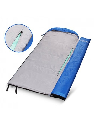 OutdoorMaster FlexiCamp Deluxe Sleeping Bag - All Season XL Sleeping Bag with Removable Liner and Included Compression Bag - For Hiking, Camping & Backpacking