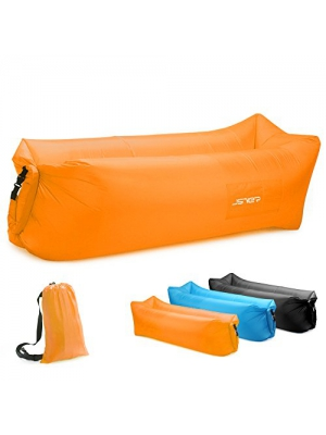 JSVER SVER Inflatable Lounger Air Sofa with Headrest for Travelling, Camping, Park, Pool and Beach Parties