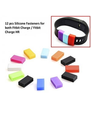 Tougs 12PCS Fitbit Charge Silicone Fastener Fits Fitbit Charge/Fitbit Charge HR