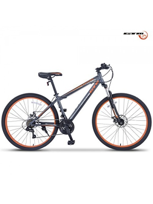 GTM 27.5 21 Speed Mountain Bike Shimano Hybrid Bicycle ,Grey & Orange