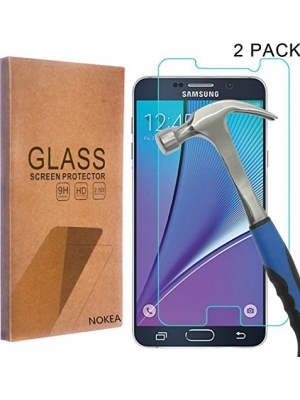 [2 Pack] Samsung Galaxy Note 5 Screen Protector, NOKEA [Tempered Glass] with [9H Hardness] [Crystal Clear] [Easy Bubble-Free Installation] [Scratch Resist] (for Galaxy Note 5)