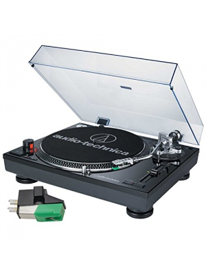 Audio-Technica AT-LP120-USB Professional Turntable (Black) with Extra AT95E Cartridge