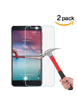 ZTE Zmax Pro Screen Protector, [ 2 Pack ] Asstar 9H Hardness 2.5D Tempered Glass Bubble-Free Screen Protectors for ZTE Zmax Pro, ZTE Carry Z981 6""