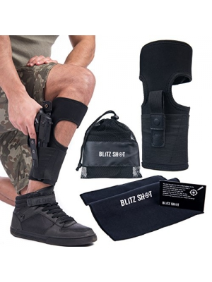 Ankle Holster for Concealed Carry | Anti-Slip Ambidextrous Leg Holster for Women and Men – Gun Carrier with Magazine Pouch For Glock 42, 43, 36, 26, S&W Shield, Bodyguard .380 .38, Ruger LCP Sig