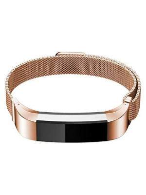 Fitbit Alta Bands,IPELY Milanese Magnetic Loop Stainless Steel Replacement Accessory Band Bracelet Strap for Fitbit Alta Tracker , Silver, Rose Gold