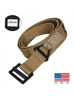 "Tactical Belt JTENG 48"" Canvas Tactical CQB Military Combat Duty Rescue Rigger Belt Outdoor Waistband Adjustable for Hunting Emergency Rigger Survival"