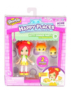 Happy Places Shopkins Single Pack Kristina Apples Doll