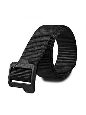 Mens Nylon Tactical Belt Thick Army Military and Police Duty with Plastic Buckle
