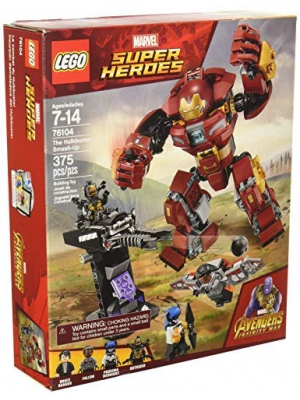 LEGO Marvel Super Heroes Avengers: Infinity War The Hulkbuster Smash-Up 76104 Building Kit features Proxima Midnight, Outrider, and Bruce Banner figures (375 Pieces)