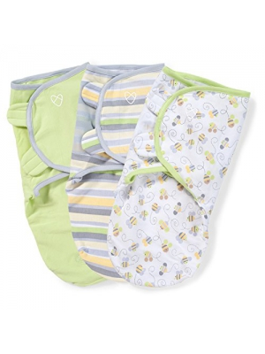SwaddleMe Original Swaddle 3-PK, Busy Bees (SM)